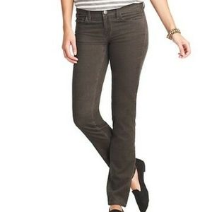 Loft gray curvey sexy boot corduroy pants